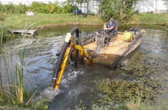 Механическая очистка пруда