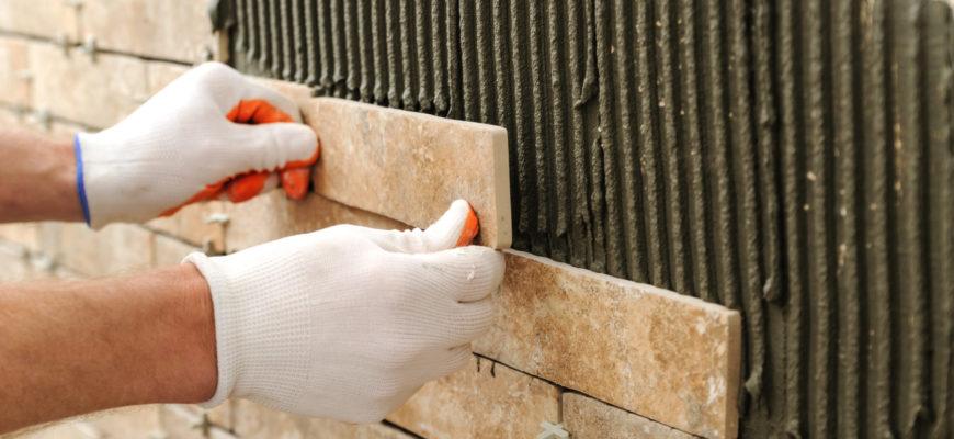 Укладка плитки на неровные стены