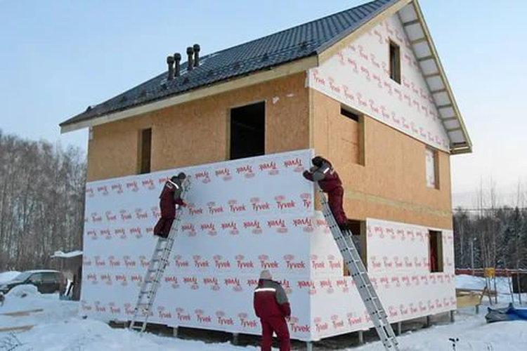 Утепление дома зимой снаружи