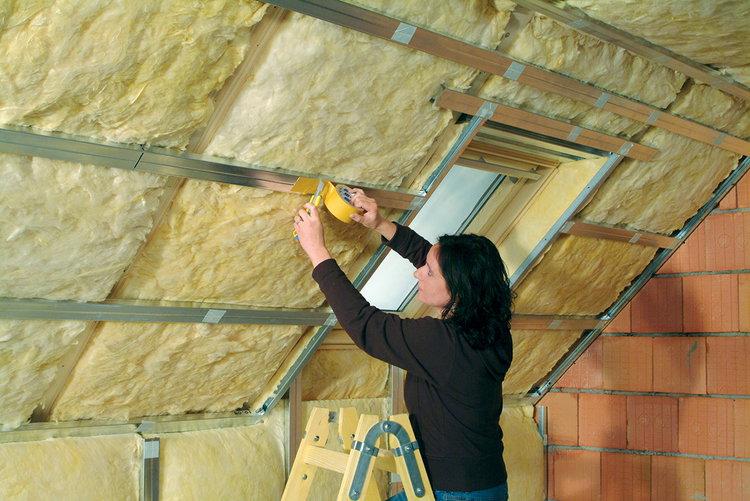 Утепление крыш минеральной ватой
